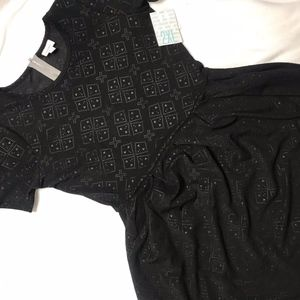 NWT Lularoe Amelia size 2XL ALL BLACK
